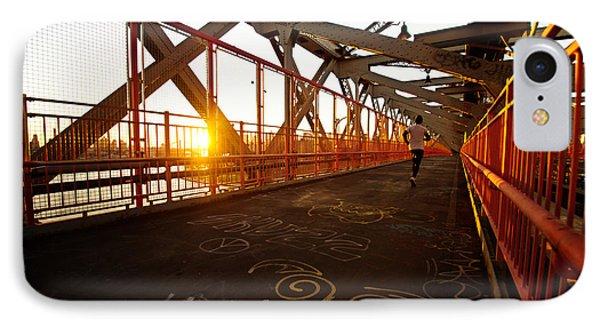 Sunset On The Williamsburg Bridge - New York City IPhone Case