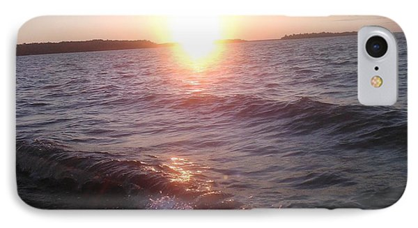Sunset On Waves IPhone Case