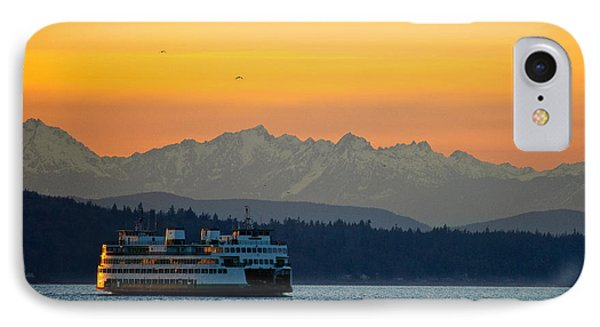 Sunset Over Olympic Mountains IPhone Case