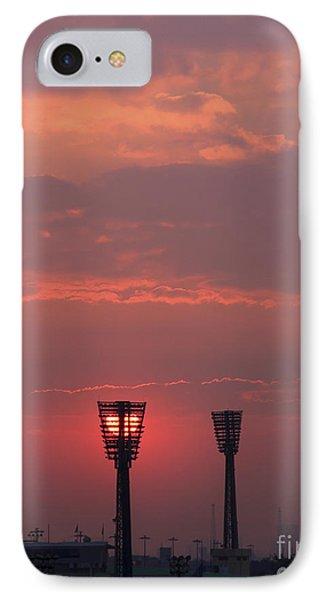 Sunset Over Stadium IPhone Case