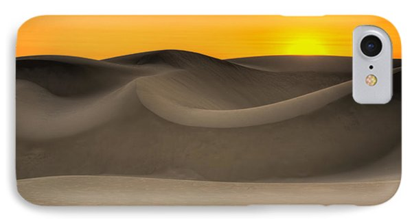 Sunset Over The Dunes IPhone Case