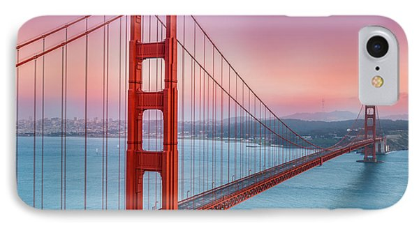 Sunset Over The Golden Gate Bridge IPhone Case