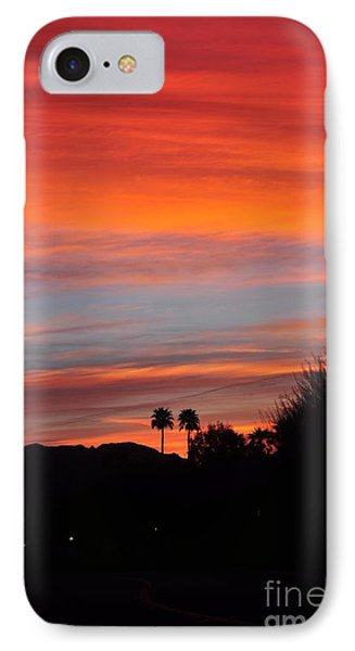 Sunset Over The Mountains IPhone Case
