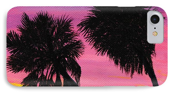 Sunset Palms At Fort Desoto IPhone Case