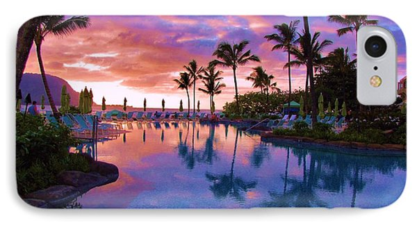 Sunset Reflection St Regis Pool IPhone Case