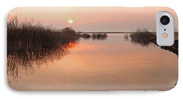 Sunset  River Panorama IPhone Case