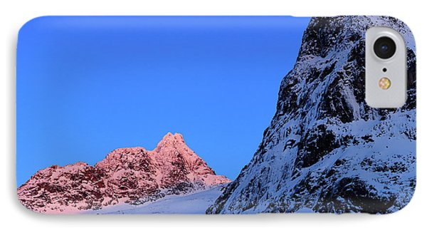 Sunset Shines On Snow-covered Rugged IPhone Case