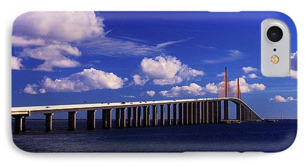 Sunshine Skyway Bridge Spanning Tampa IPhone Case