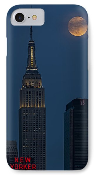 Super Moon By The Empire State Building Nyc IPhone Case