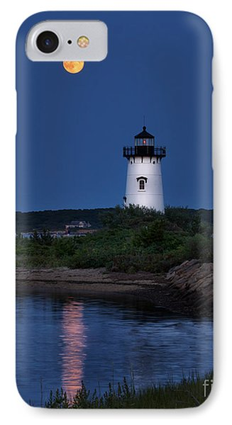 Super Moon Over Edgartown Lighthouse IPhone Case