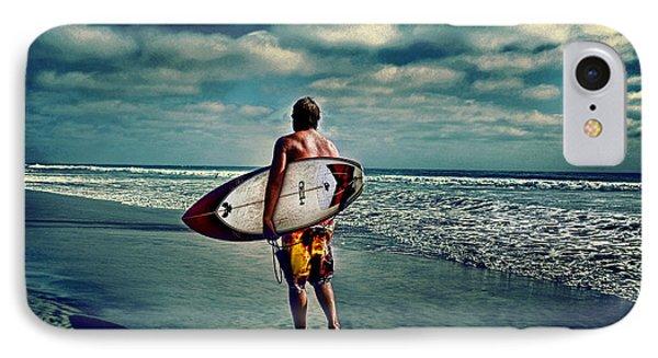 Surfer Walking The Beach IPhone Case
