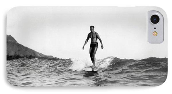 Surfing At Waikiki Beach IPhone Case