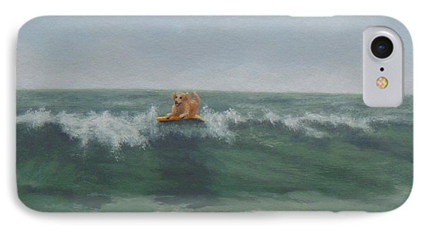 Surfing Golden IPhone Case