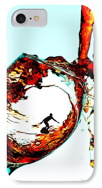 Surfing In A Cup Of Wine Little People On Food IPhone Case