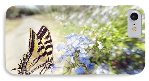 Swallowtail Butterfly In Spring IPhone Case
