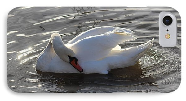 Swan By The Lake # 2 IPhone Case
