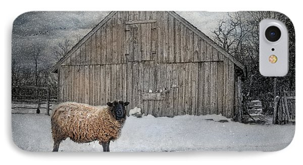 Sheep iPhone 8 Case - Sweater Weather by Robin-Lee Vieira