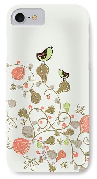Beautiful Nature iPhone 8 Case - Sweet Bird Wallpaper Design by Vecstock.com