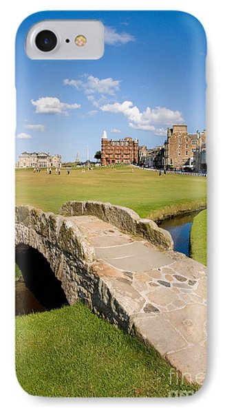 Swilcan Bridge On The 18th Hole At St Andrews Old Golf Course Scotland IPhone Case