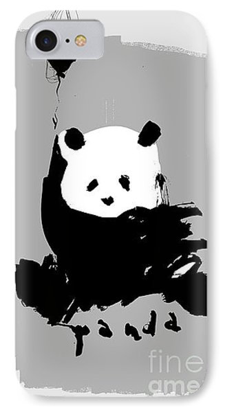 Small iPhone 8 Case - Symbolic Image Of A Panda On A Gray by Dmitriip