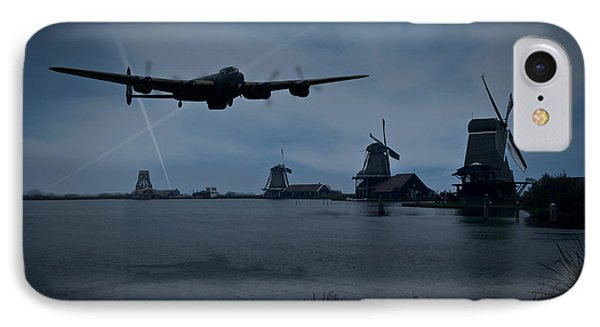 Dambusters Lancaster T For Tommy En Route To The Sorpe IPhone Case