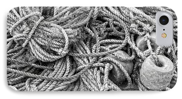 Tangled Rope On Dock In Maine IPhone Case