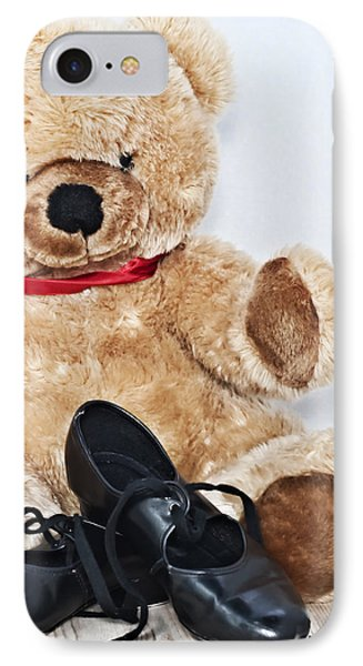 Tap Dance Shoes And Teddy Bear Dance Academy Mascot IPhone Case