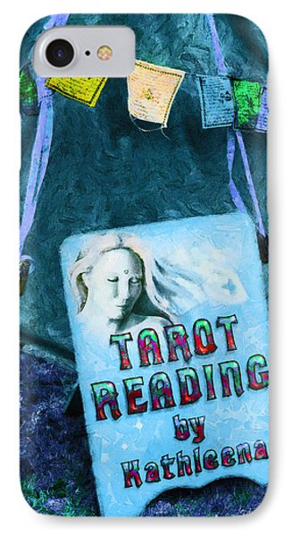 Tarot reader iphone 8 cases fine art america tarot reader iphone 8 case tarot reading by steve taylor m4hsunfo