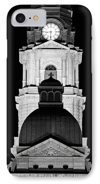 Tarrant County Courthouse Bw V1 020815 IPhone Case