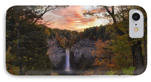Taughannock Falls Autumn Sunset IPhone Case