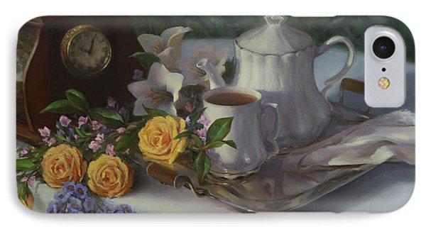 Tea In The Garden IPhone Case