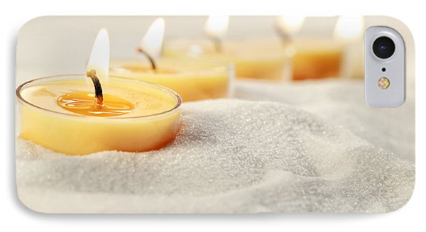 Tea Light Candles In Sand IPhone Case