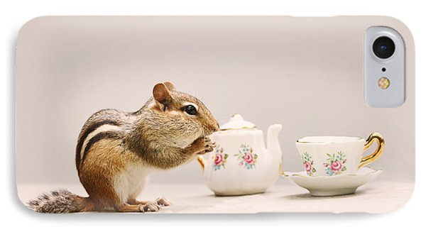 Tea Party With Chipmunk IPhone Case
