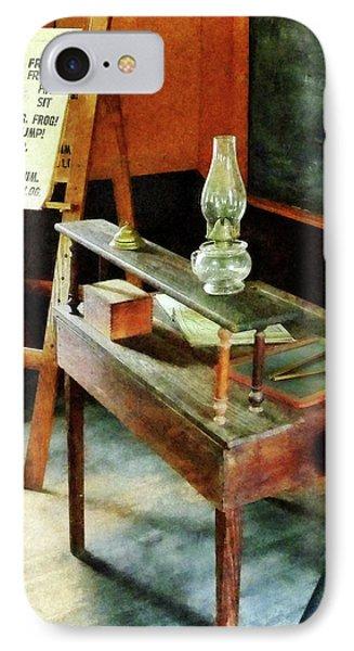 Teacher - Teacher's Desk With Hurricane Lamp IPhone Case