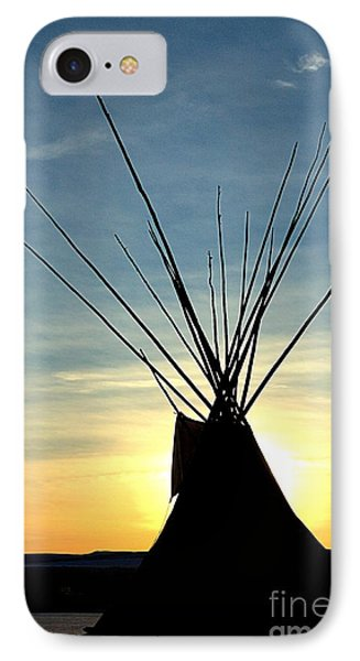Teepee Along The Little Big Horn River IPhone Case