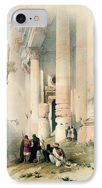 Temple Called El Khasne IPhone Case
