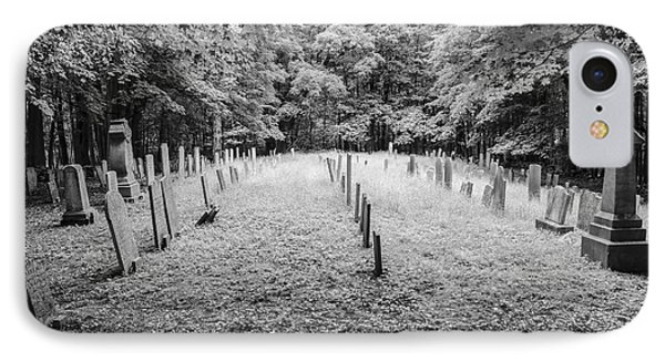 Terpenning Cemetery B And W IPhone Case