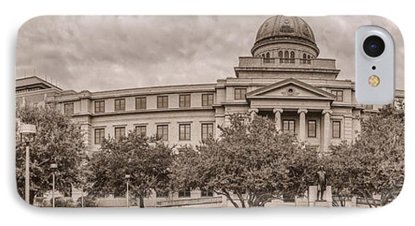 Texas A And M Academic Plaza - College Station Texas IPhone Case