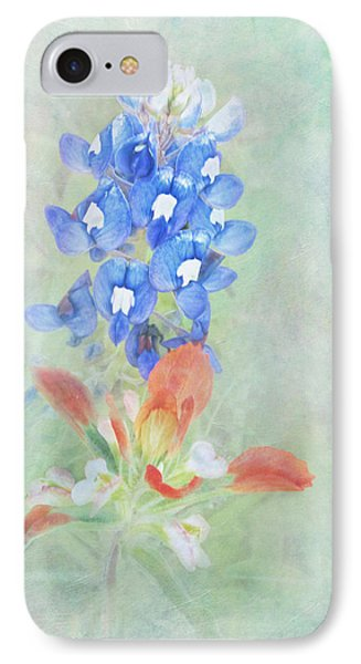 Texas Bluebonnet And Indian Paintbrush IPhone Case