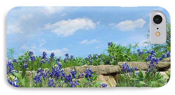 Texas Bluebonnets 08 IPhone Case