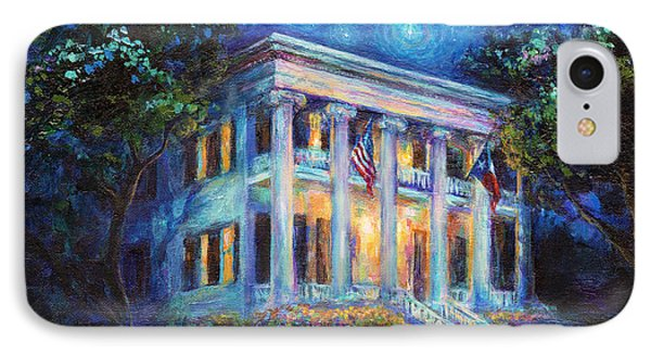 Texas Governor Mansion Painting IPhone Case