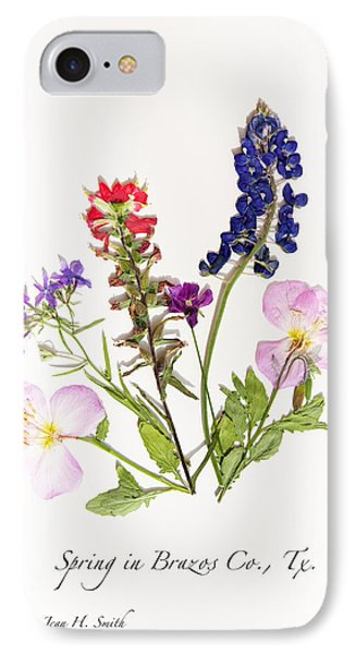 Texas Spring Flowers IPhone Case