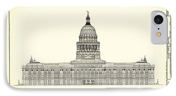 Texas State Capitol Architectural Design IPhone Case