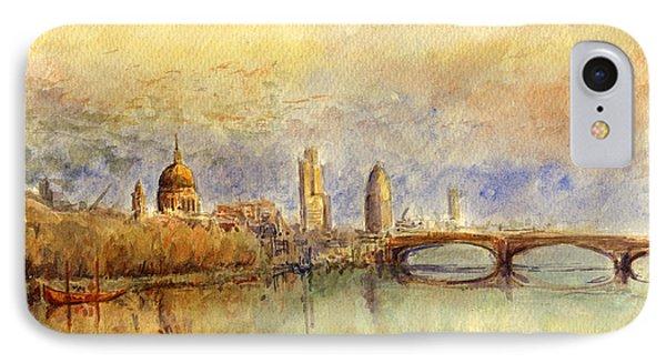 England iPhone 8 Case - Thames London by Juan  Bosco