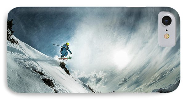 French iPhone 8 Case - Tha??o De La Soujeole At Home In Flaine by Eric Verbiest