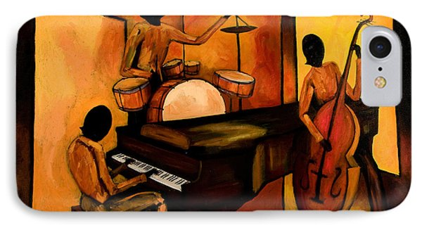 Drum iPhone 8 Case - The 1st Jazz Trio by Larry Martin