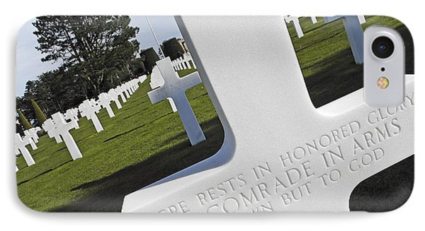 The American Cemetary In Normandy IPhone Case