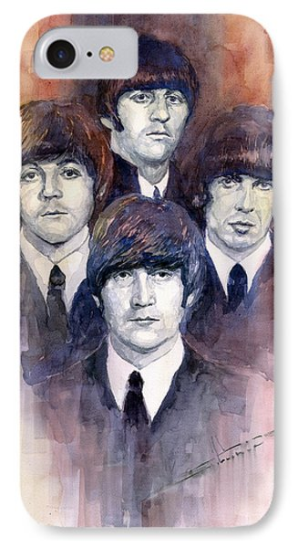 Musicians iPhone 8 Case - The Beatles 02 by Yuriy Shevchuk