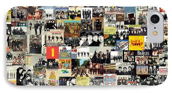 Rock And Roll iPhone 8 Case - The Beatles Collage by Zapista