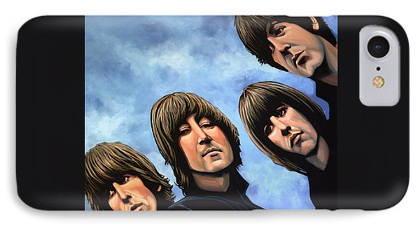 Rock And Roll iPhone 8 Case - The Beatles Rubber Soul by Paul Meijering